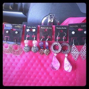 8 Pk Dangle Earrings